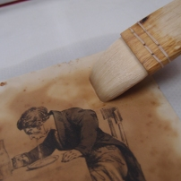 During treatment - washing the print using the low-pressure table